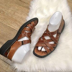 Joseph Seibel Brown Air Massage Sandals D12-2